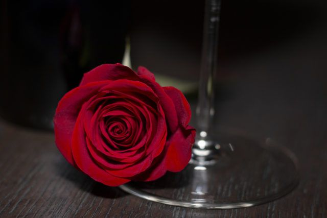 Rose with Wine